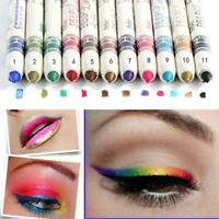 12 Pcs Professional Cosmetic Makeup Eyeliner Eye / Lip Liner Glitter Pencil Set