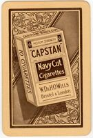 Playing Cards Single Card Old CAPSTAN Navy Cut CIGARETTES Advertising Tobacco 3