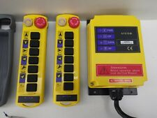 More details for a100(cd) industrial wireless double remote control 380v crane hoist system.