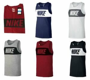 Nike Mens Vest Top Logo Sports Gym Active Wear Tank Top T shirt