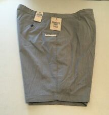 DOCKER'S Men's PERFECT SHORT Classic Fit SIZE - 40 Blue/White Searsucker NWT