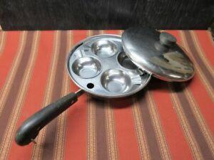 """Vintage Revere Ware 8"""" Egg Poacher - complete set"""