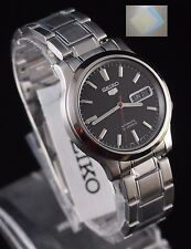 SNK795K1 SEIKO 5 Stainless Steel Band Automatic Men's Black Watch + Gift New