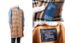 Vintage Burberrys Wool Nova Check Trench LINING ONLY Wool REG 54