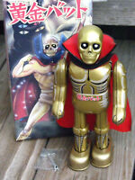 "RARE ~ BILLIKEN 1995 OGON BAT ""GOLDEN BAT"" Wind up 8.5"" Tin Toy Robot ~ JAPAN"