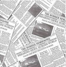 Lot de 4 Serviettes en papier Journal Information Decoupage Collage Decopatch