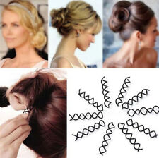 10Pcs Mystic Spiral Spin Screw Pin Hair Clip Twist Barrette Black Hair Accessory
