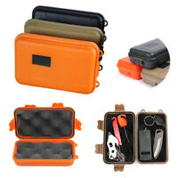 Outdoor Survival EDC Tools Storage Case Box Plastic Shockproof Waterproof Boxes