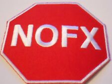 Nos NOFX Stop Sign Patch 80s Punk Rock Band Hard Core Band Heavy Metal Skate Ska