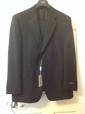 CANALI TUXEDO Tux Black Suit 42S Flat Front Pants Brand New NWT 2 Button Italy