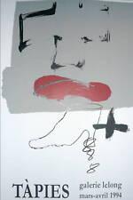 TAPIES Antoni Affiche Lithographie abstraction lyrique art abstrait