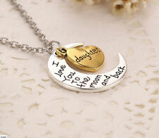 HOT 'I LOVE YOU TO THE MOON AND BACK' daughter Necklace Pendant
