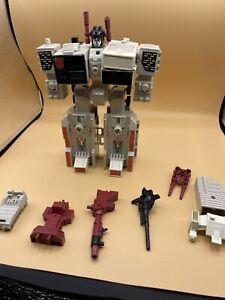 Transformers G1 Original Vintage 1980s Metroplex Figure Playset Lot