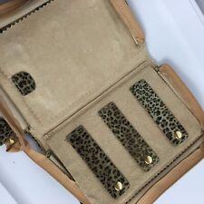Reed & Barton Animal Print Leopard Cheetah Chic Travel Jewelry Bag Case Zippered