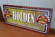General Motors Dealer Holden Chev Buick Oldsmobile Large Metal tin sign GMH