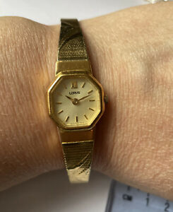 Lorus Ladies Vintage Watch Collectable,  Gold Plated Cocktail Watch