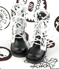 ☆╮Cool Cat╭☆【13-03】Blythe Pullip Doll Shoes Boots # Skeleton White
