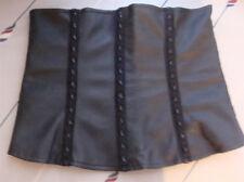 Lip service cybertronic ragdoll waist cincher runs XS underbust vegi leather