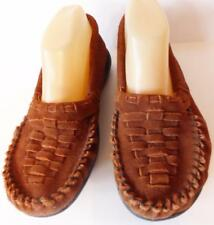 Women's Peace Michelle Soft Leather Moccasins Loafers Size 9 Med Brown