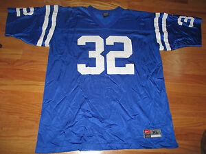 Vintage Nike EDGERRIN JAMES No. 32 INDIANAPOLIS COLTS (LG) Jersey BLUE