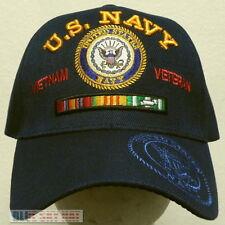 2930405a2cb U.S. NAVY NAVAL USN VIET NAM VIETNAM VETERAN VET SERVICE CAMPAIGN RIBBON CAP  HAT