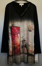 Shirt schwarz rot Gr.56 Marke Chalou Viskose Red.