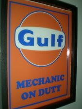 Gulf Gas Metal Sign Racing advertising sign oil gas garage Shop ford 12x12 50124