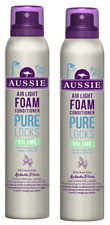 2x Aussie PURE LOCKS Air Light Foam Volume Conditioner 180ml
