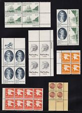 1978 United States 15 Cent Stamps in Blocks of 4 Marginal 2 Pages MNH