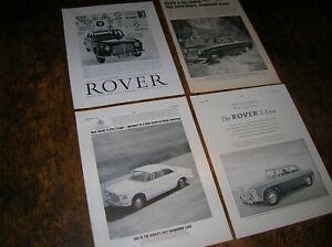 4 original full-page vintage Rover 3-litre ads 1959-63  Mk I  /  Mk II  /  Coupé