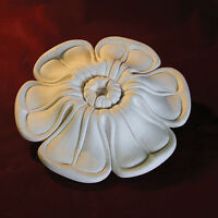 Plaster Ceiling Rose - Small for Hallways, Kitchens. Irish Leaf 190mm x 40mm