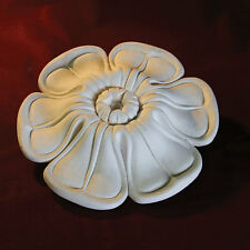 Plaster Ceiling Rose - Small for Hallways, Kitchens. Irish Leaf 190mm x 40mm