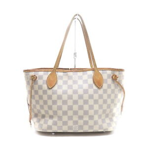 Louis Vuitton LV Hand Bag Neverfull PM Azur N51110 White Azur 1417590