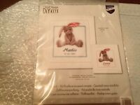 Vervaco Cute Bunny Birth Record Counted Cross Stitch Kit NEW PN-0144493