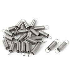 0.5x6x25mm Stainless Steel Dual Hook Small Tension Spring 24pcs I7Q6