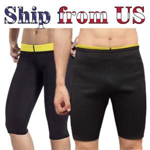 Man's & Women's Thermo Neoprene Sweat Sauna Body Shaper Pants Weight Loss Shorts