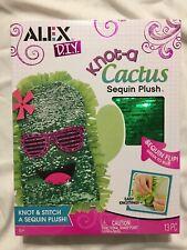 Alex 13 Pc D.I.Y. Knot-A Cactus Sequin Plush New Toy