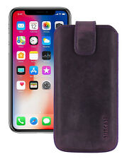 """IPHONE 11 pro 5.8 """" Leather Cover Case Protection Antique Purple+Silicone"""