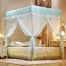 Bed Curtains Three Door Open Mosquito Net Double Sleeping Canopy Full Queen King