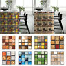 3D Mosaic Tile Stickers DIY Waterproof Wall Stickers Bathroom Kitchen Home Decor
