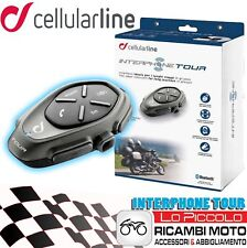 INTERFONO SINGOLO BLUETOOTH CELLULAR LINE INTERPHONE TOUR CASCO MOTO UNIVERSALE