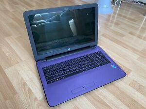 """HP 15-ac109na 15.6"""" Purple Laptop Intel Pentium 3825U 1.90GHz 8GB RAM 1TB HDD"""