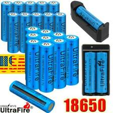20* Ultrafire 3.7Volt Rechargeable 18650 Batteries with Battery Charger US Stock