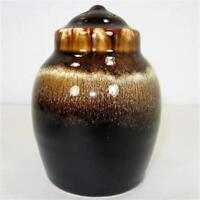 Pfaltzgraff Gourmet Brown Drip Glaze 4in Single 4 Hole Pepper Shaker wo/ Stopper