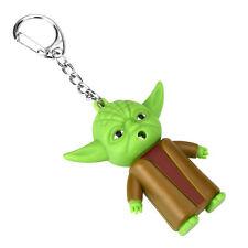 Star War Yoda Sound Led Action Figure Cute Toys Keychain Gift Decoration