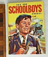 DELIGHTFUL VINTAGE 1963 OUR OWN SCHOOLBOYS STORY BOOK PICTURE ANNUAL HB UK EXC!