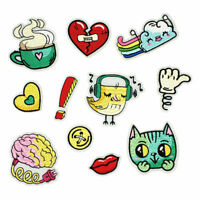 Cartoon Badges Cute Cat Heart Iron on Patch Embroidery DIY Logo Child Appliques
