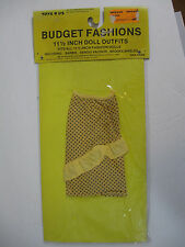 """Toys r Us Budget yellow Skirt New Fit Brooke Sheilds Barbie sergio Valente 11"""""""