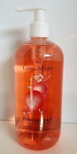 CRABTREE & EVELYN POMEGRANATE Argan & Grapeseed Bath & Shower Gel 16.oz u/b