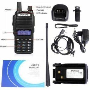 Baofeng UV-82 MICROFONO PTT Dual Band UHF VHF 5W Radio DTMF PMR RICETRASMITTENTE